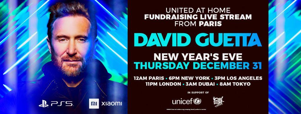 David Guetta united at home